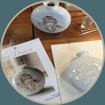 cours peinture porcelaine